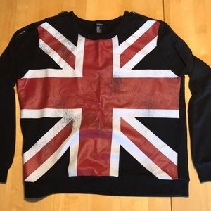 Forever 21 Union Jack sweatshirt medium